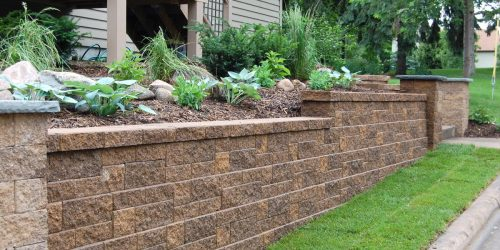 Retaining Wall, Landscaping Wall, Stone Wall, Flower Bed